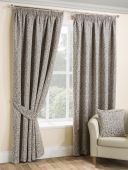 Balmoral Stone Curtains with Pencil Pleat heading