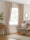 Beatrice Cream Curtains with Pencil Pleat heading