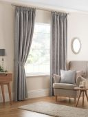 Beatrice Silver Curtains with Pencil Pleat heading
