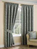 Oakley Duck Egg Curtains with Pencil Pleat heading