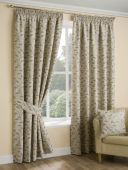 Oakley Ochre Curtains with Pencil Pleat heading