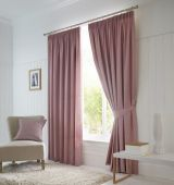 Dijon Blackout Blush Curtains with Pencil Pleat heading