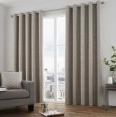 Camberwell Stone Curtains With Eyelet heading