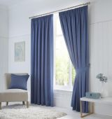 Dijon Blackout Denim Curtains with Pencil Pleat heading