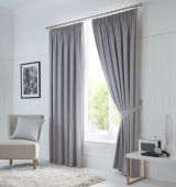 Dijon Blackout Grey Curtains with Pencil Pleat heading