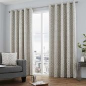 Camberwell Silver Curtains With Eyelet heading