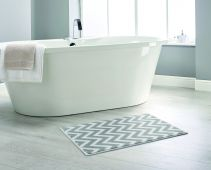 Chevron Bathroom Mats  by Dip and Drip