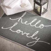 Hello Lovely Bathroom Mats by Dip and Drip