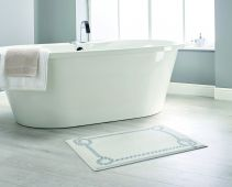 Rope Border Bathroom Mat by Dip and Drip