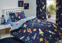 Supersonic Children's Blue Glow in the dark  Reversible Duvet Set