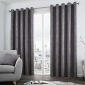 Solent Graphite Curtains With Eyelet heading