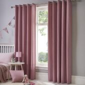 Sorbonne Blush Curtains With Eyelet heading