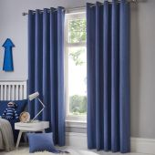Sorbonne Denim Ready Made Eyelet Curtains
