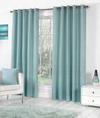 Sorbonne Duck Egg Blue Ready Made Eyelet Curtains
