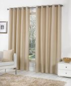Sorbonne Natural  Ready Made Eyelet Curtains
