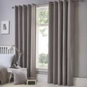 Sorbonne Silver Ready Made Eyelet Curtains