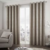 Solent Stone Curtains With Eyelet heading