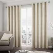 Solent Natural Curtains With Eyelet heading
