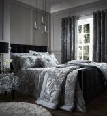 Catherine Lansfield Crushed Velvet Duvet Cover Bedding Bed Set and Accessories