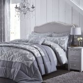 Catherine Lansfield Damask Silver Luxury Duvet Cover Sets