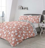 Alabar Fusion Reversible Coral & Grey Duvet Set