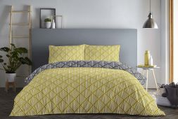 Brooklyn Fusion Reversible Ochre Duvet Set
