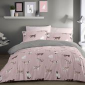 Fusion Cats Pink reversible Duvet Cover